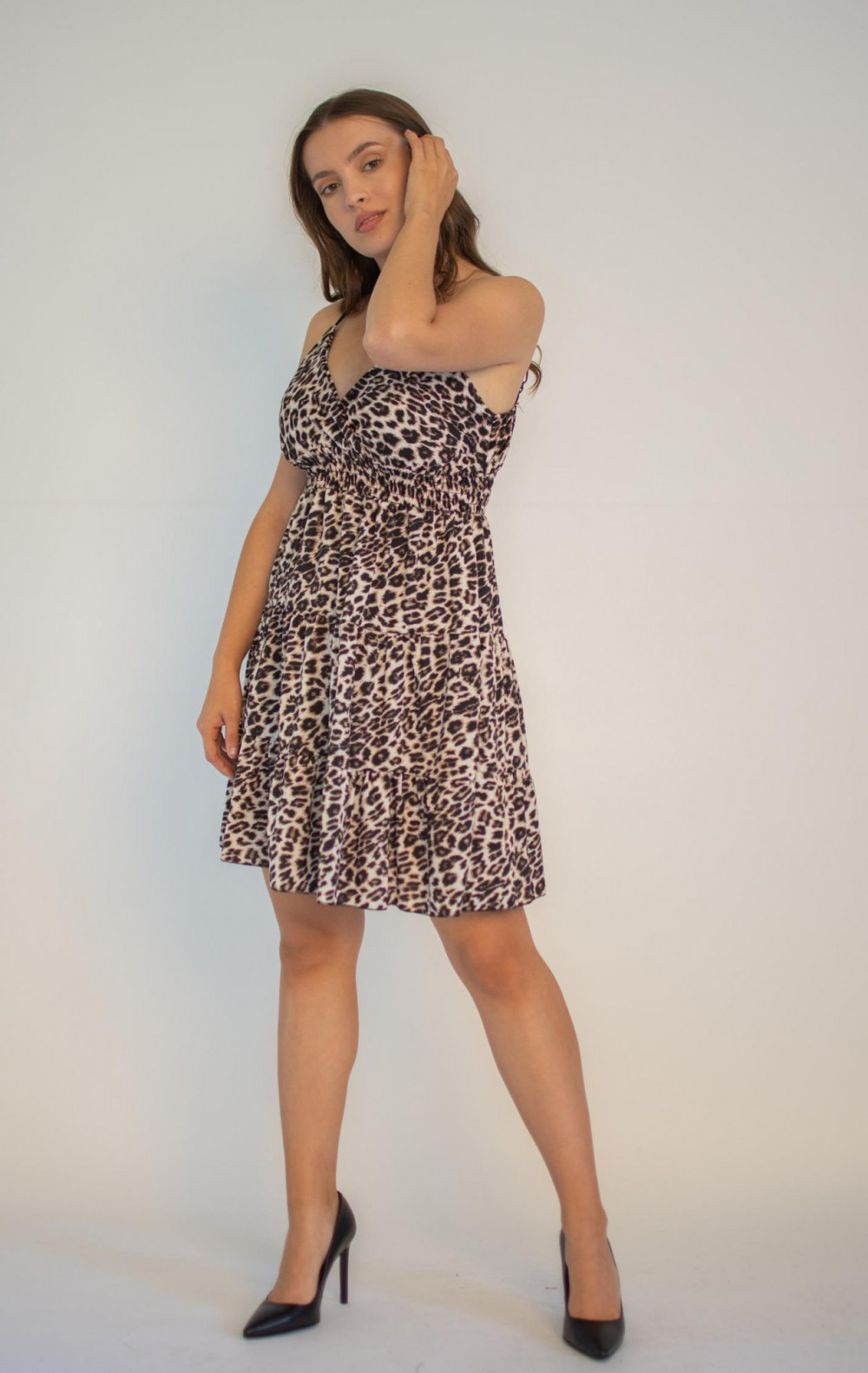Sukienka seksowna panterka na ramiączkach Martha 5