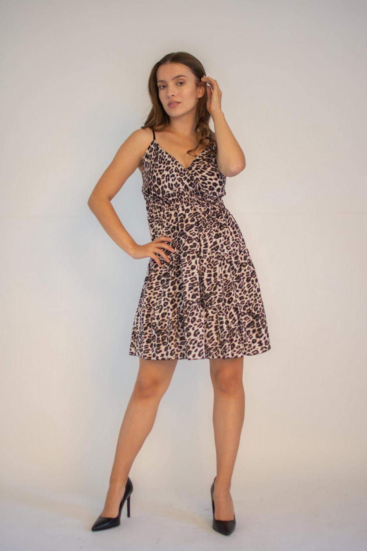 Sukienka seksowna panterka na ramiączkach Martha 6