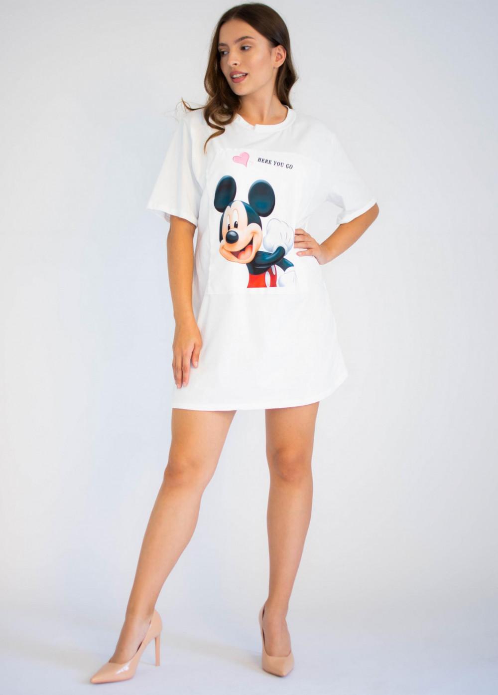 Bawełniana sukienka typu t-shirt z oryginalnym nadrukiem Mickey Mouse Lily 3