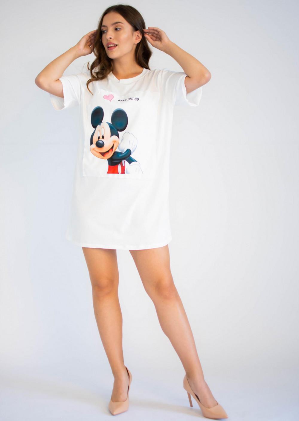 Bawełniana sukienka typu t-shirt z oryginalnym nadrukiem Mickey Mouse Lily 4