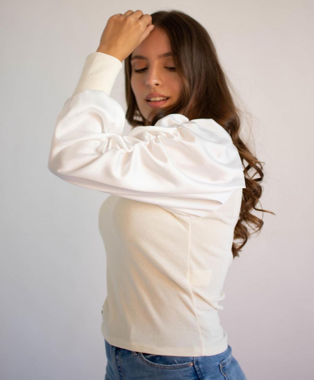 Bluzka damska elegancka z bufiastymi rękawami Joanna 3