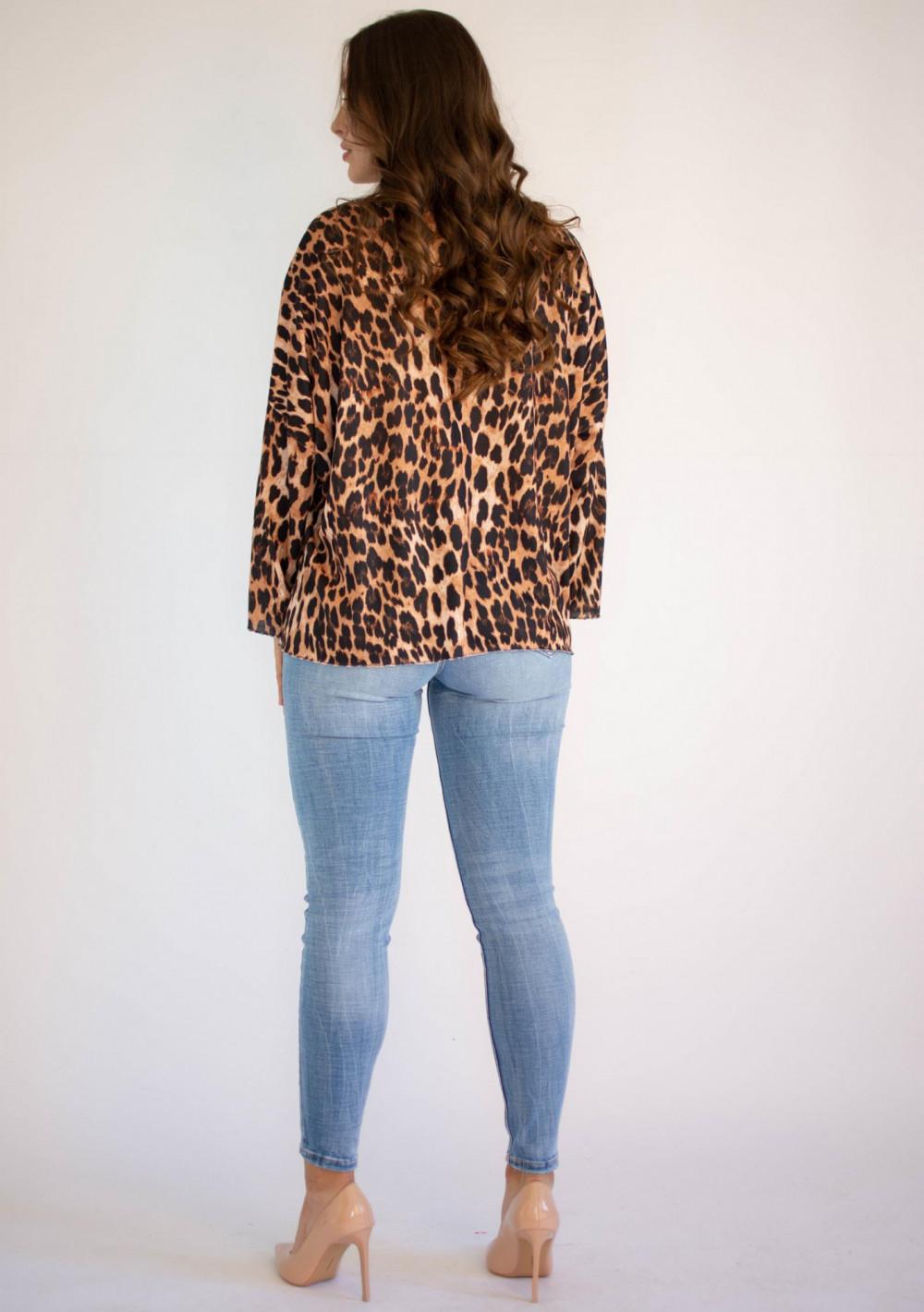 Bluzka damska z długim rękawem panterka Laura 1