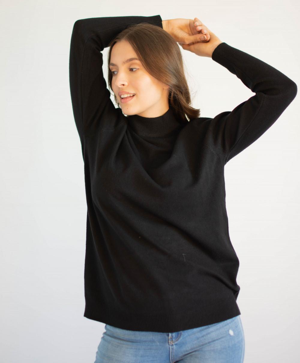 Czarny sweter z golfem Jean 3