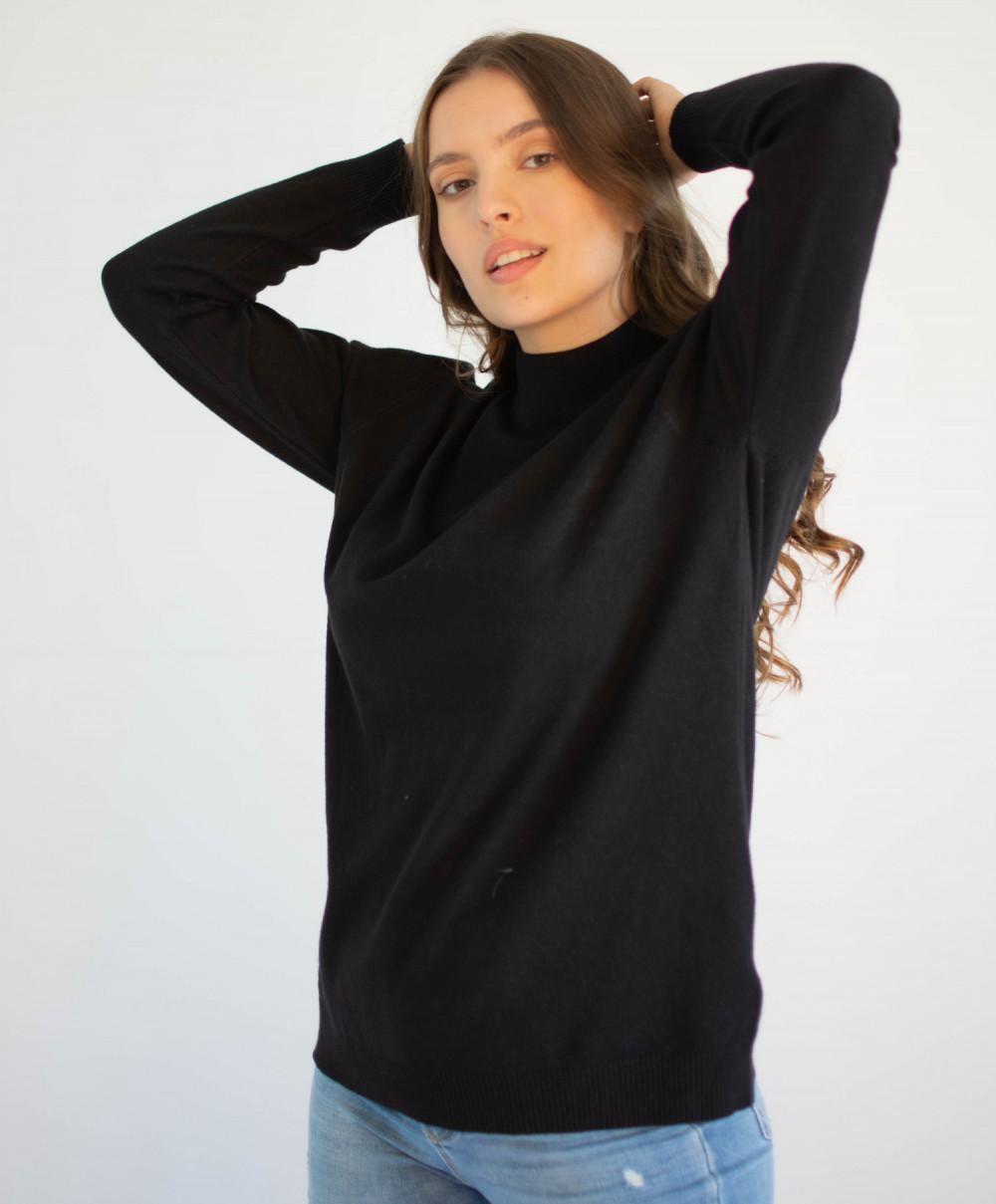 Czarny sweter z golfem Jean 4