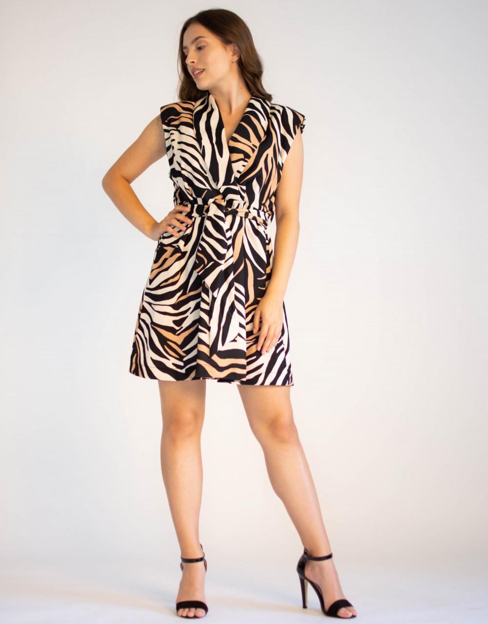 Elegancka sukienka z przekładanym dekoltem Eve 3