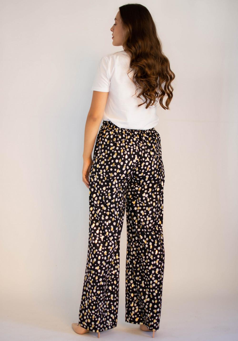 Eleganckie spodnie w złote kropki Judith 1