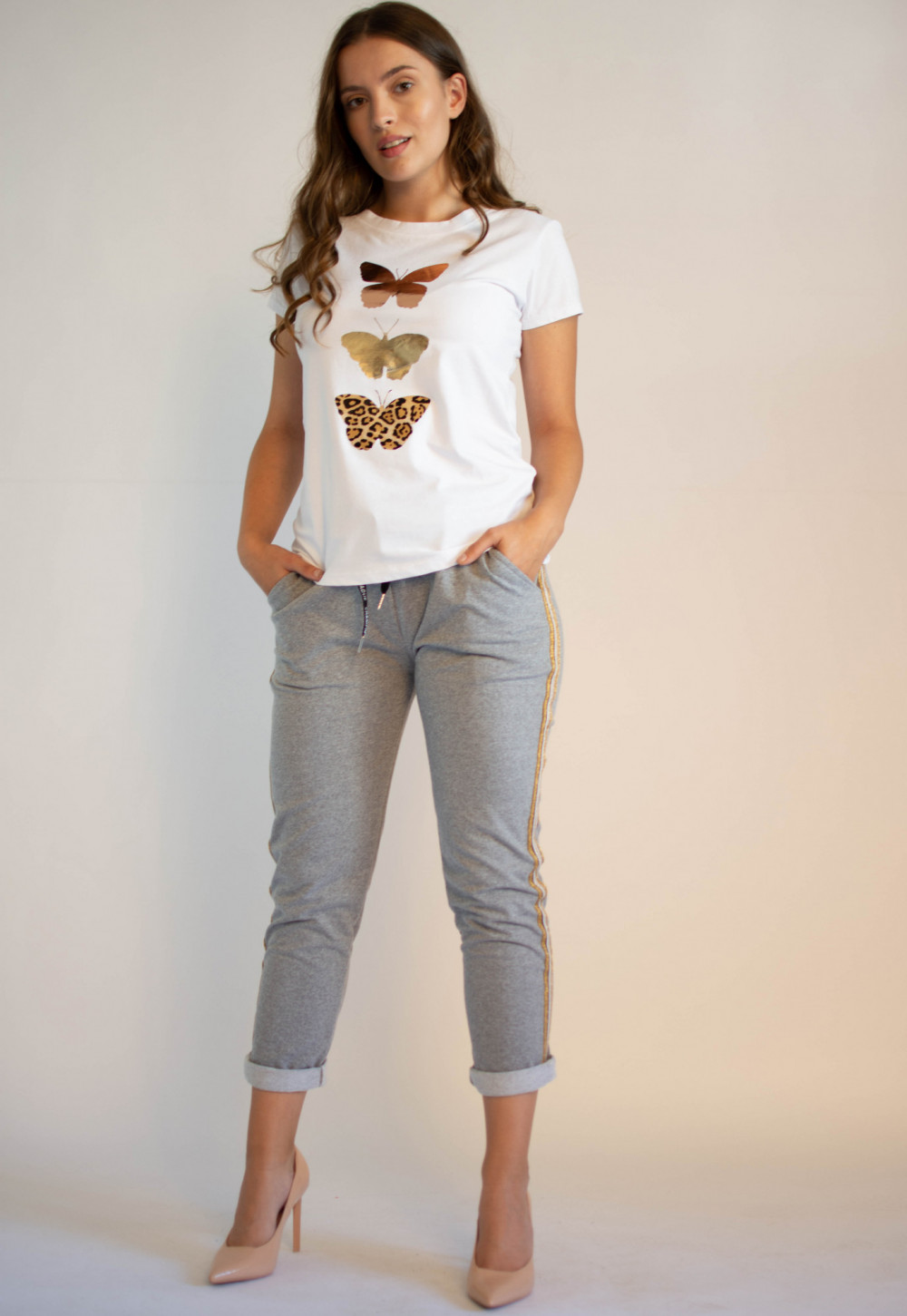 Koszulka z motywem motyli Mosqui 3