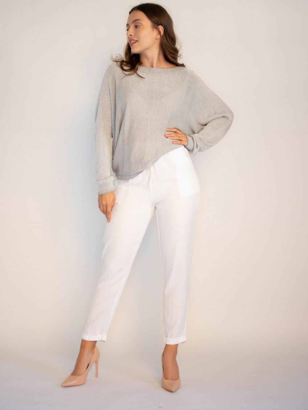 Luźne spodnie z wiązaniem Solio 2