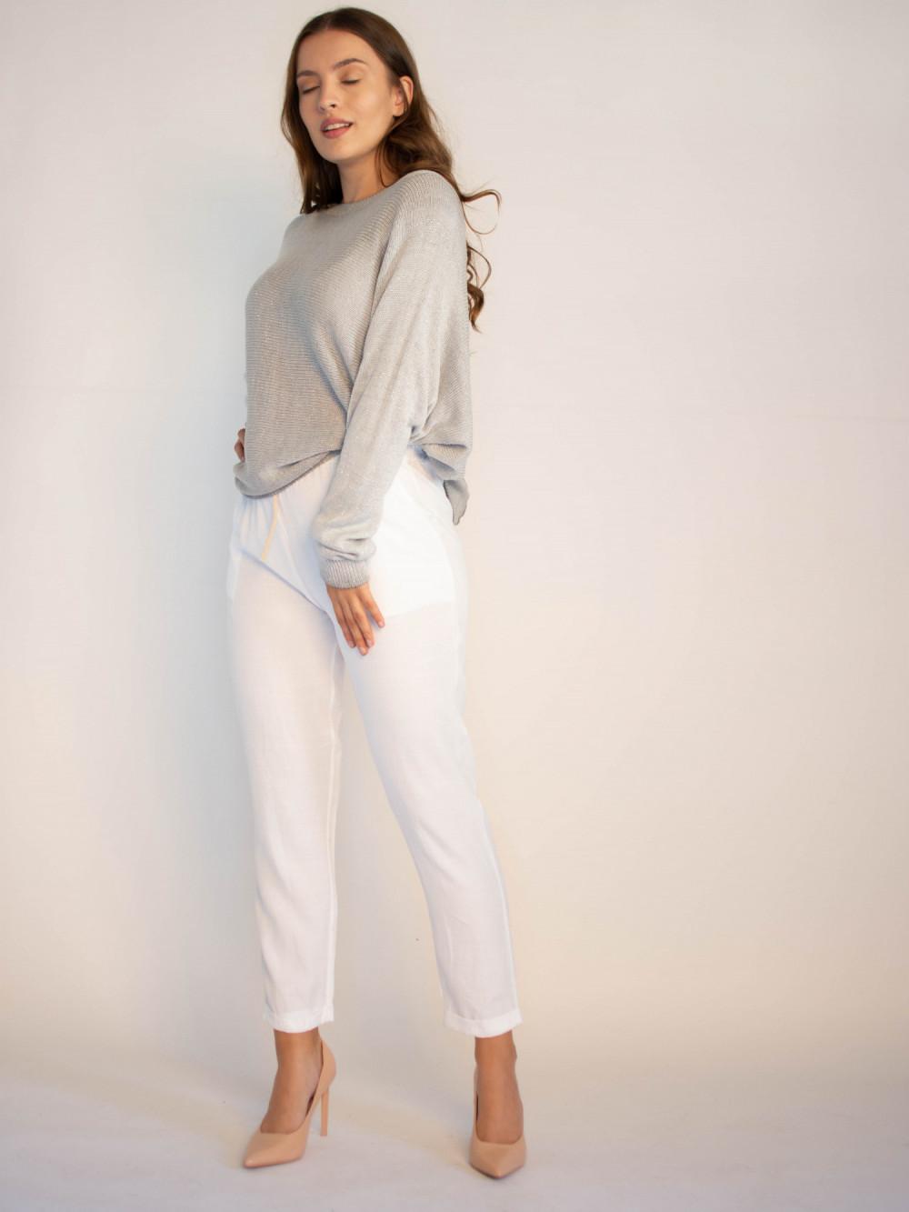 Luźne spodnie z wiązaniem Solio 3