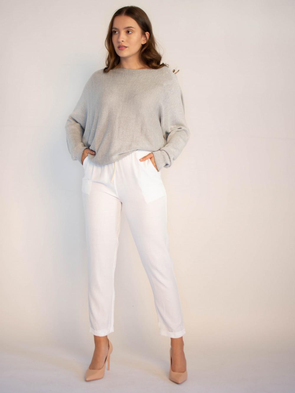 Luźne spodnie z wiązaniem Solio 4