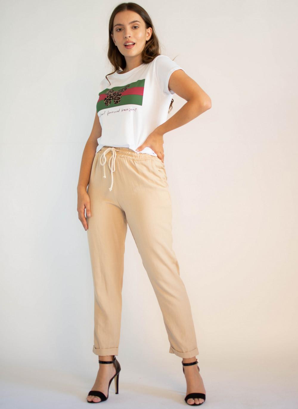 Luźne spodnie z wiązaniem Syoss 2