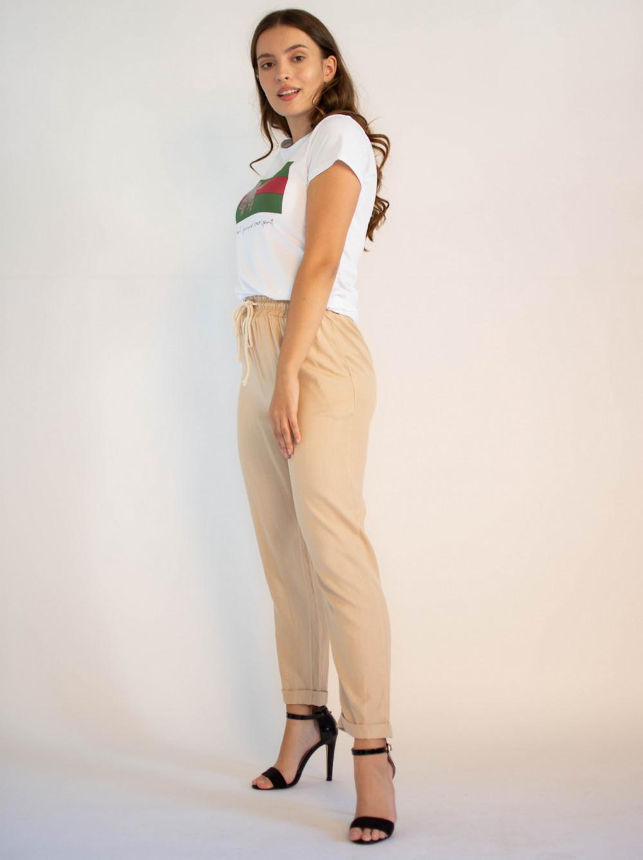 Luźne spodnie z wiązaniem Syoss 3