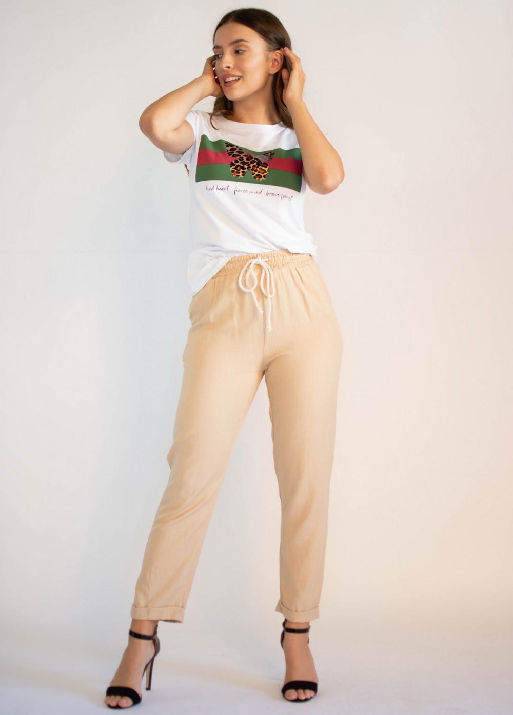 Luźne spodnie z wiązaniem Syoss 4