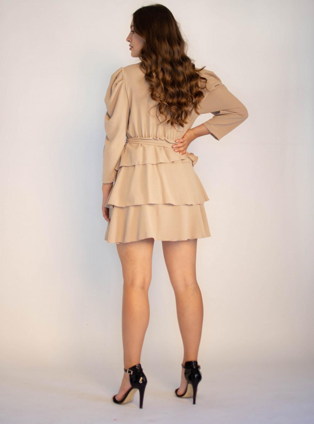 Rozkloszowana sukienka z falbankami Mia 1