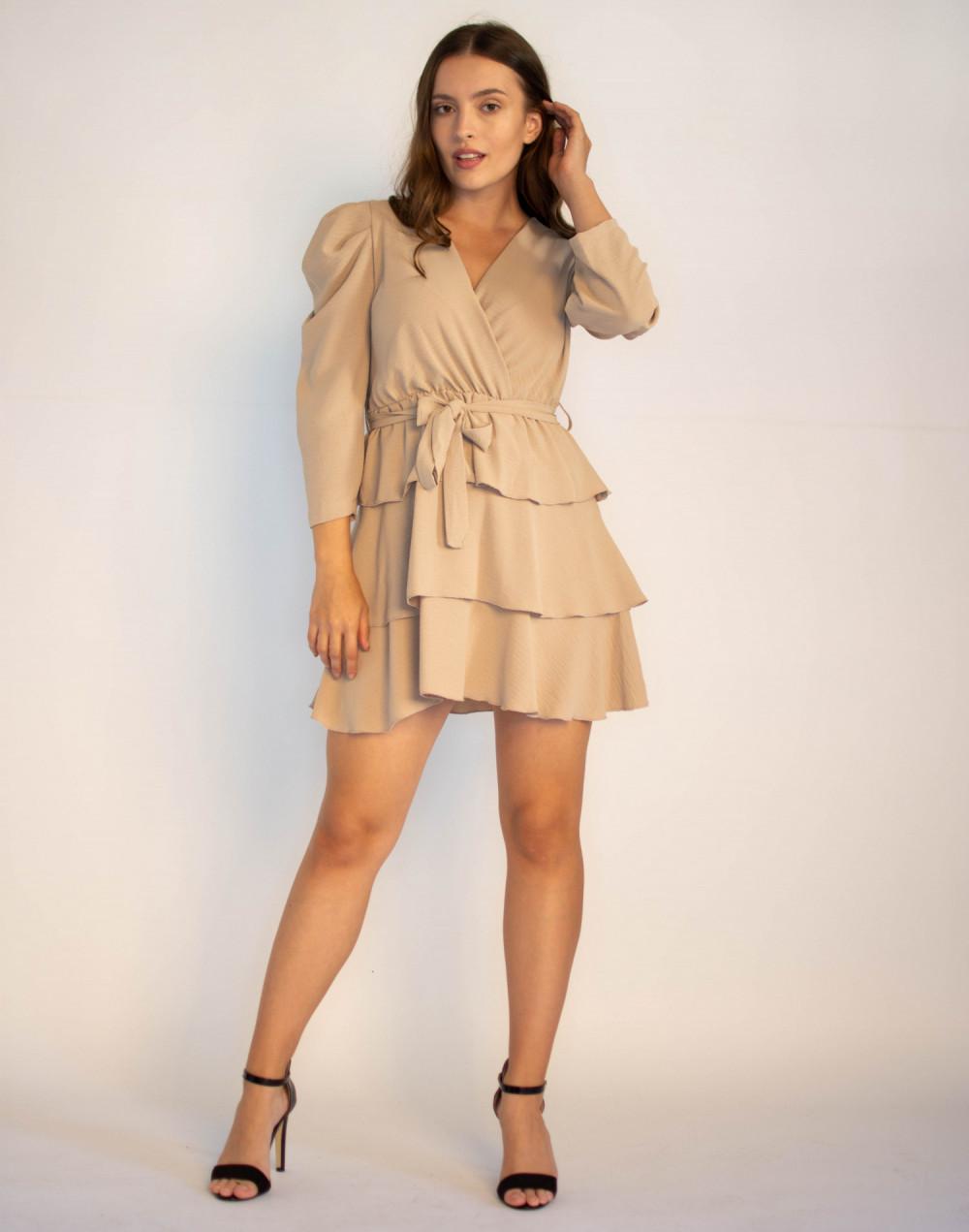 Rozkloszowana sukienka z falbankami Mia 3