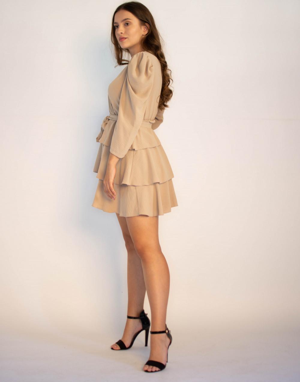 Rozkloszowana sukienka z falbankami Mia 4