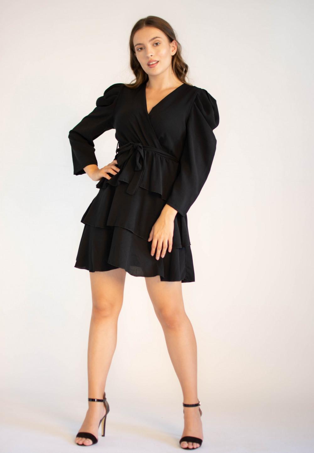 Rozkloszowana sukienka z falbankami Sophie 3