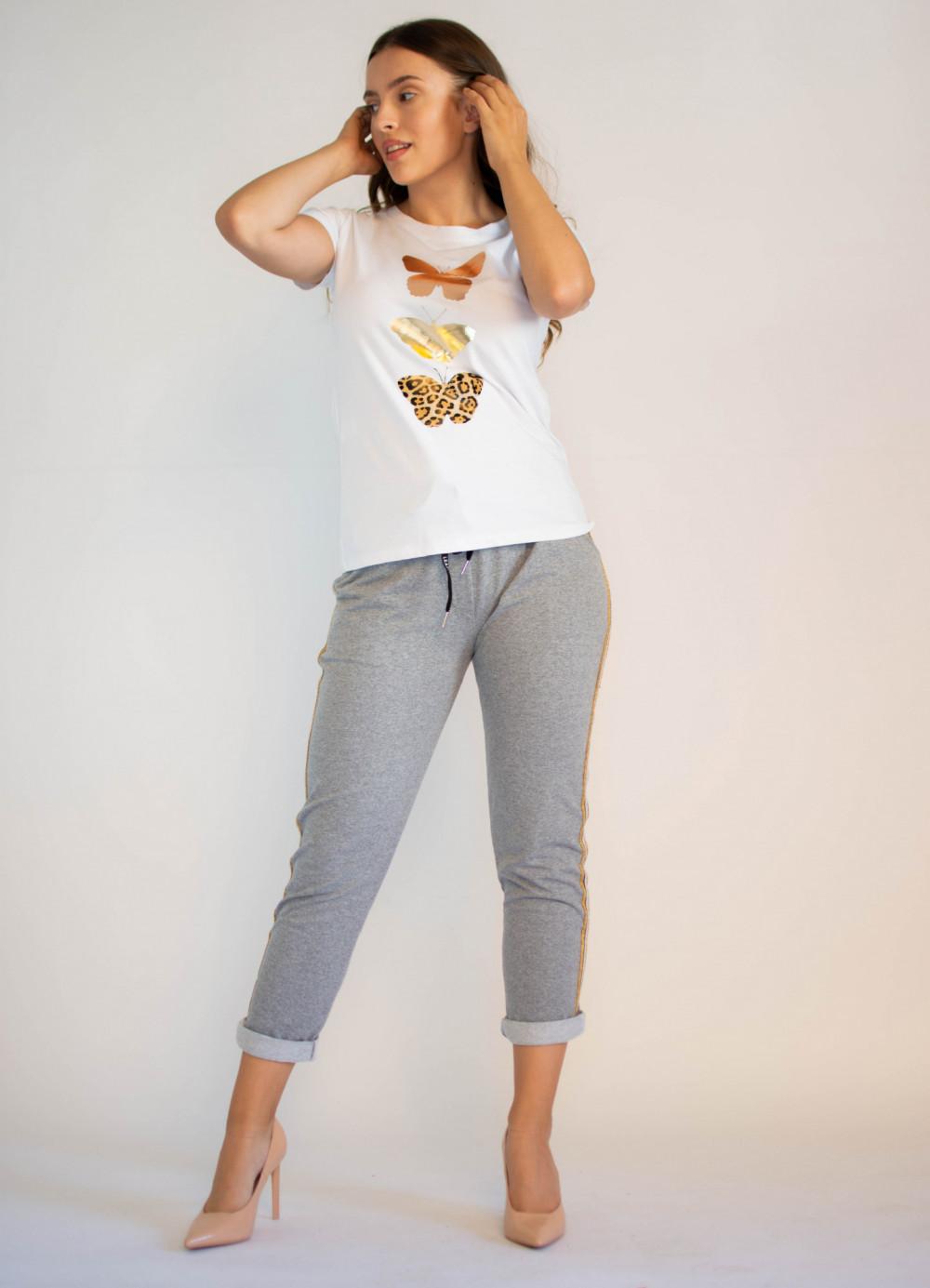 Spodnie dresowe damskie z lampasami Cordelia 3