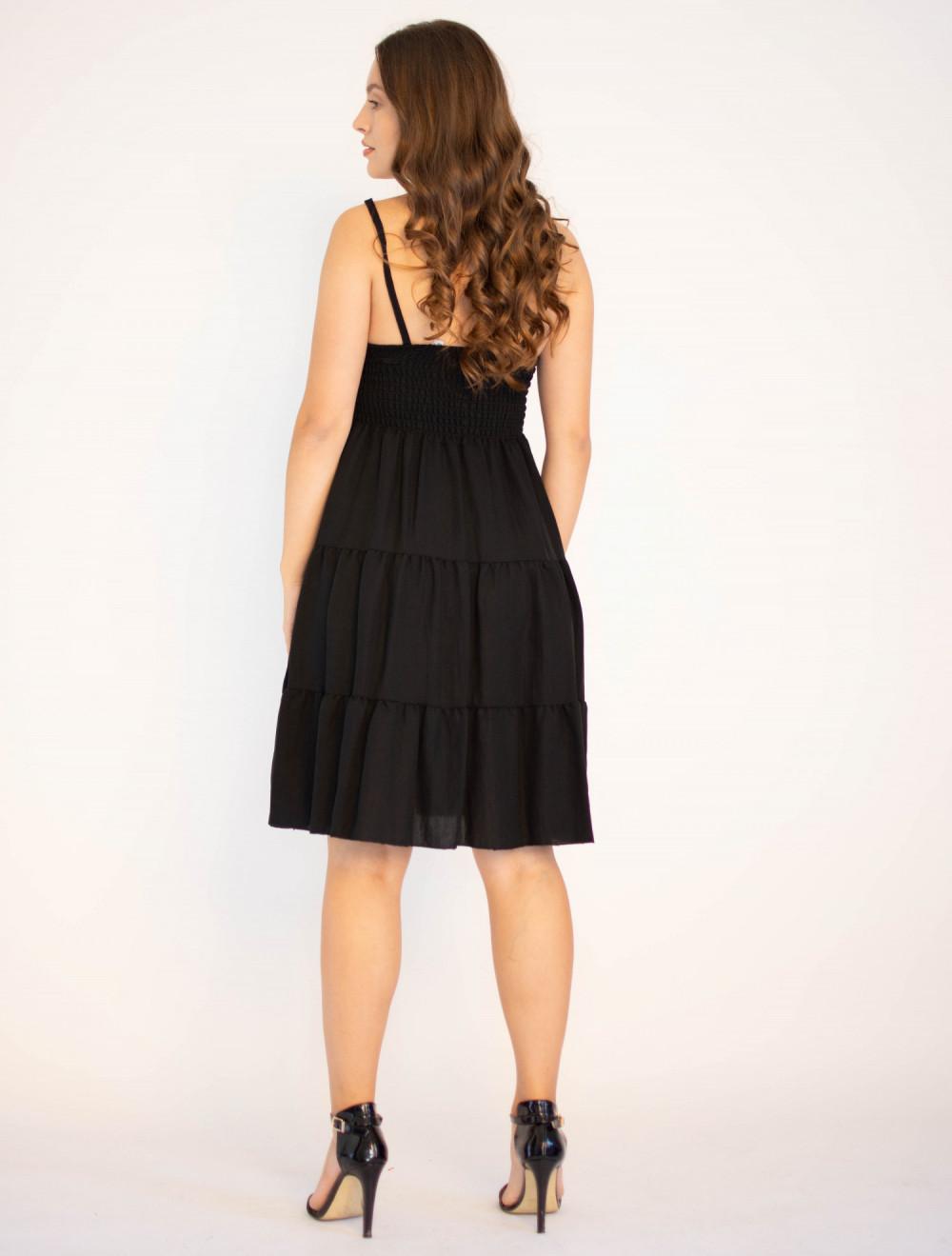 Sukienka czarna z falbankami Beth 1