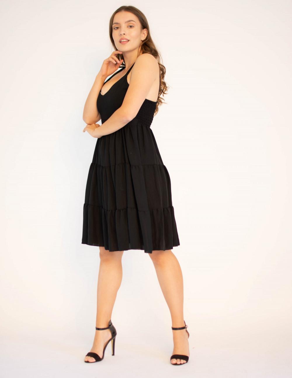 Sukienka czarna z falbankami Beth 3