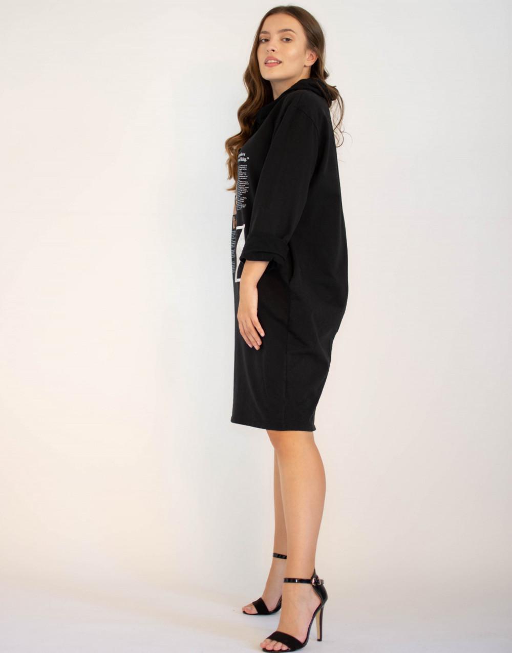 Sukienka dresowa oversize z oryginalnym nadrukiem Grace 2