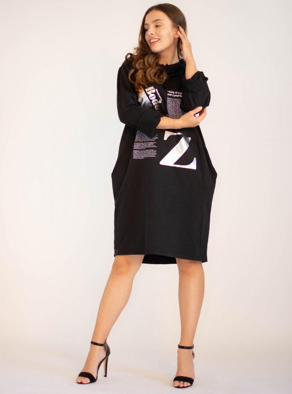 Sukienka dresowa oversize z oryginalnym nadrukiem Grace 3