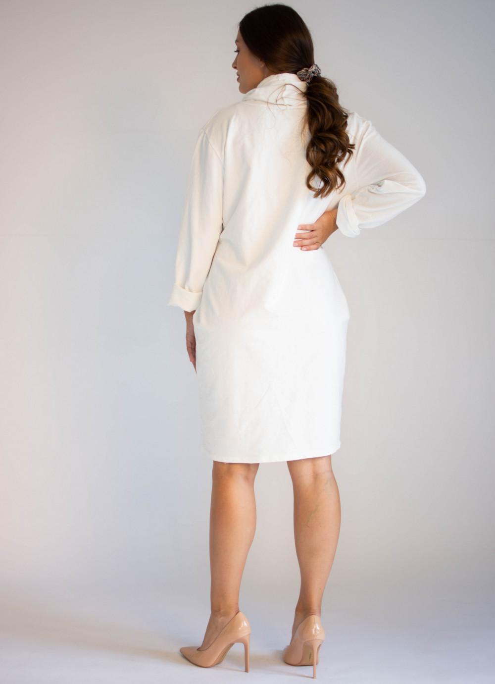 Sukienka dresowa oversize z oryginalnym nadrukiem Tiffany 1