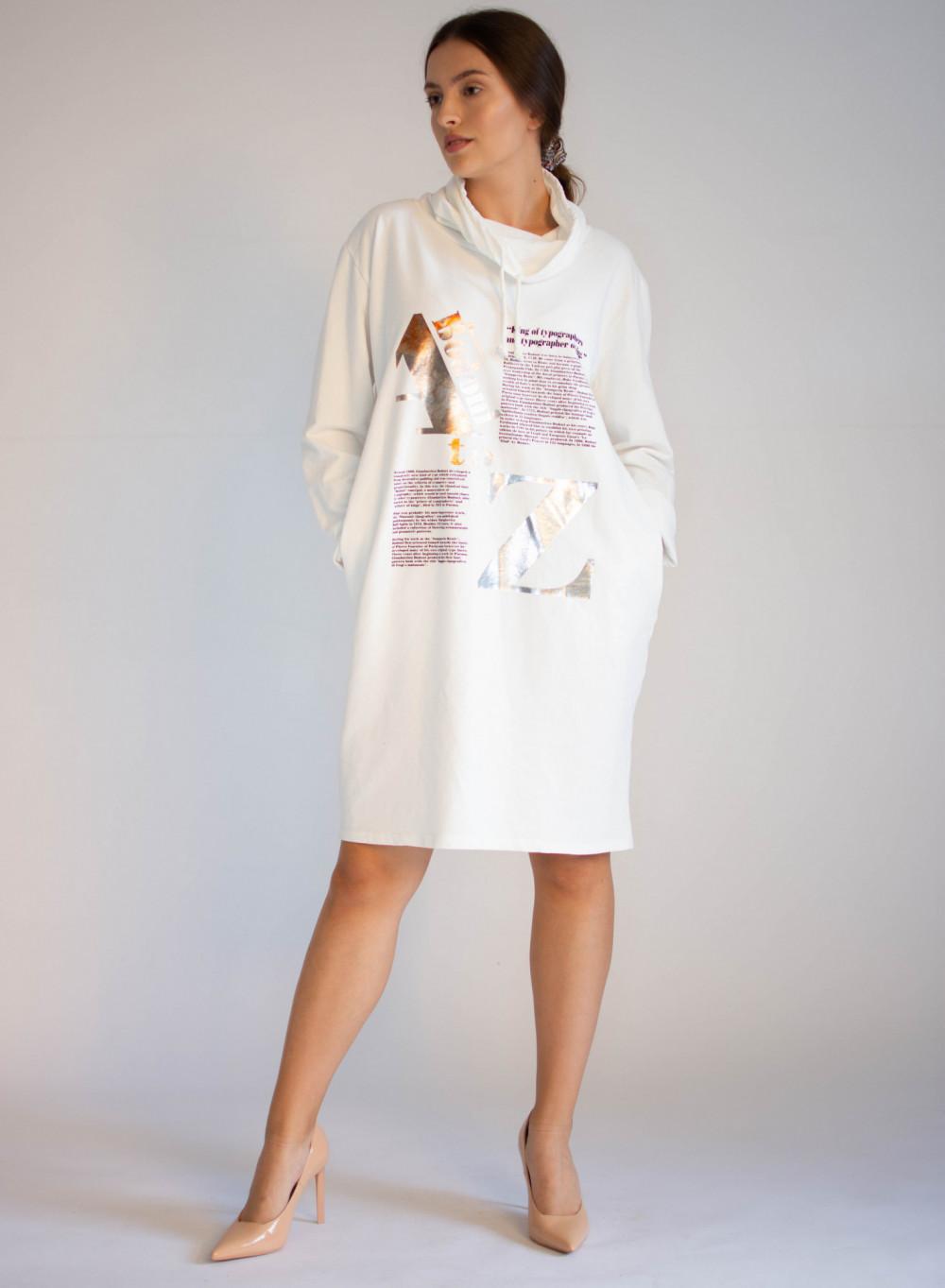 Sukienka dresowa oversize z oryginalnym nadrukiem Tiffany 2