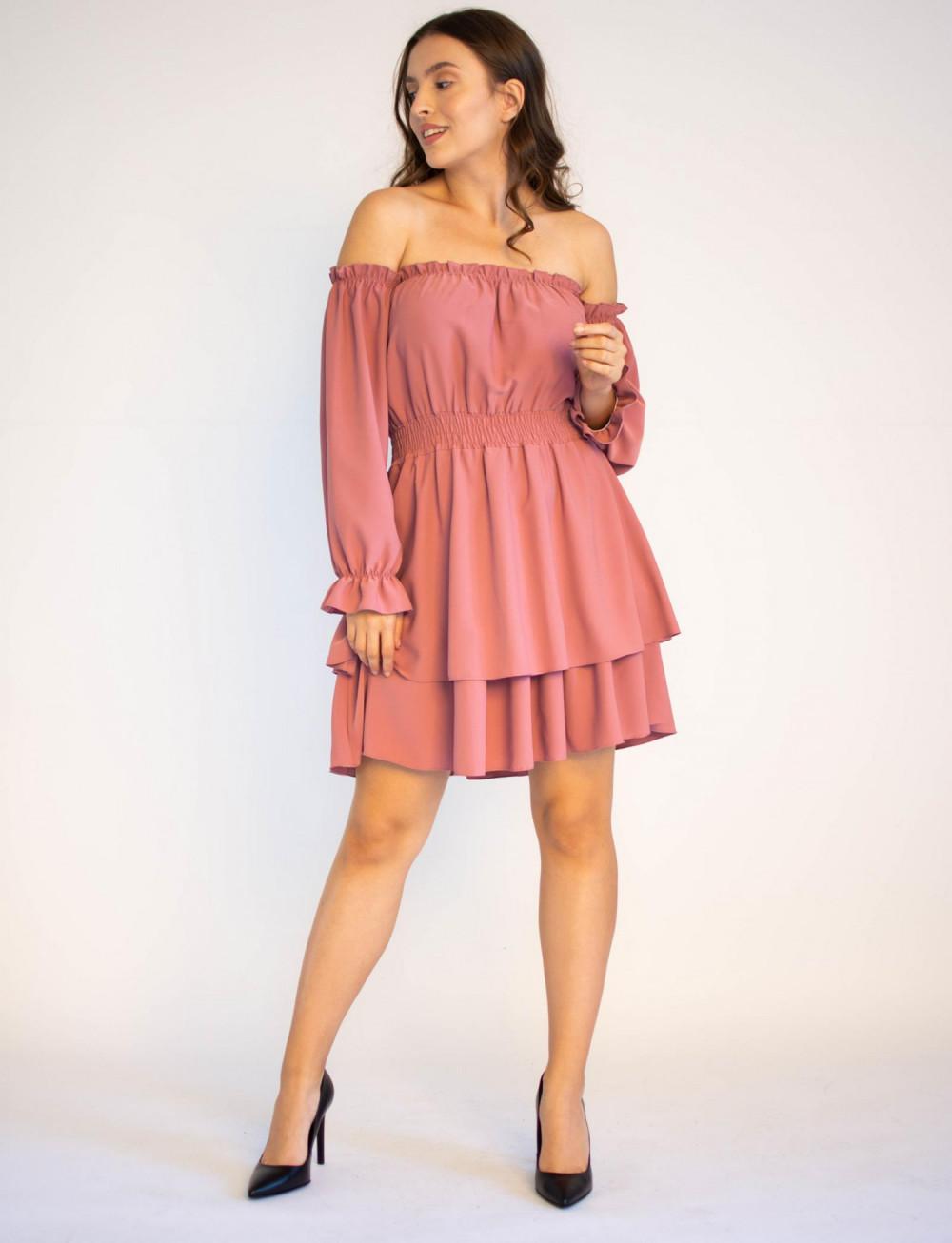Sukienka hiszpanka z długim rękawem Carolyn 4