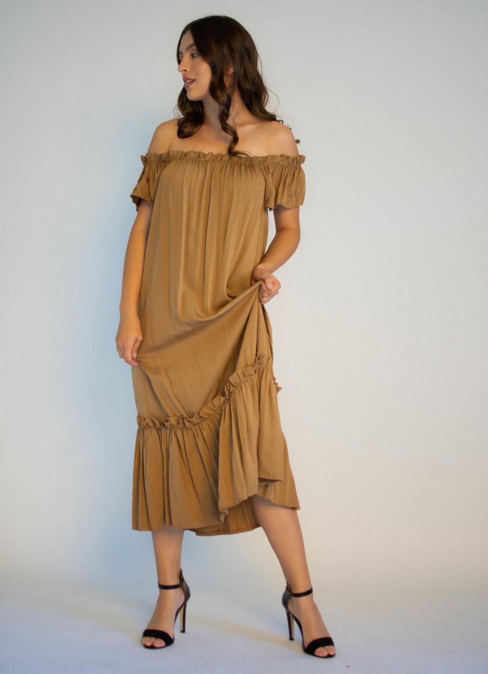 Sukienka hiszpanka z falbankami midi Catherine 2