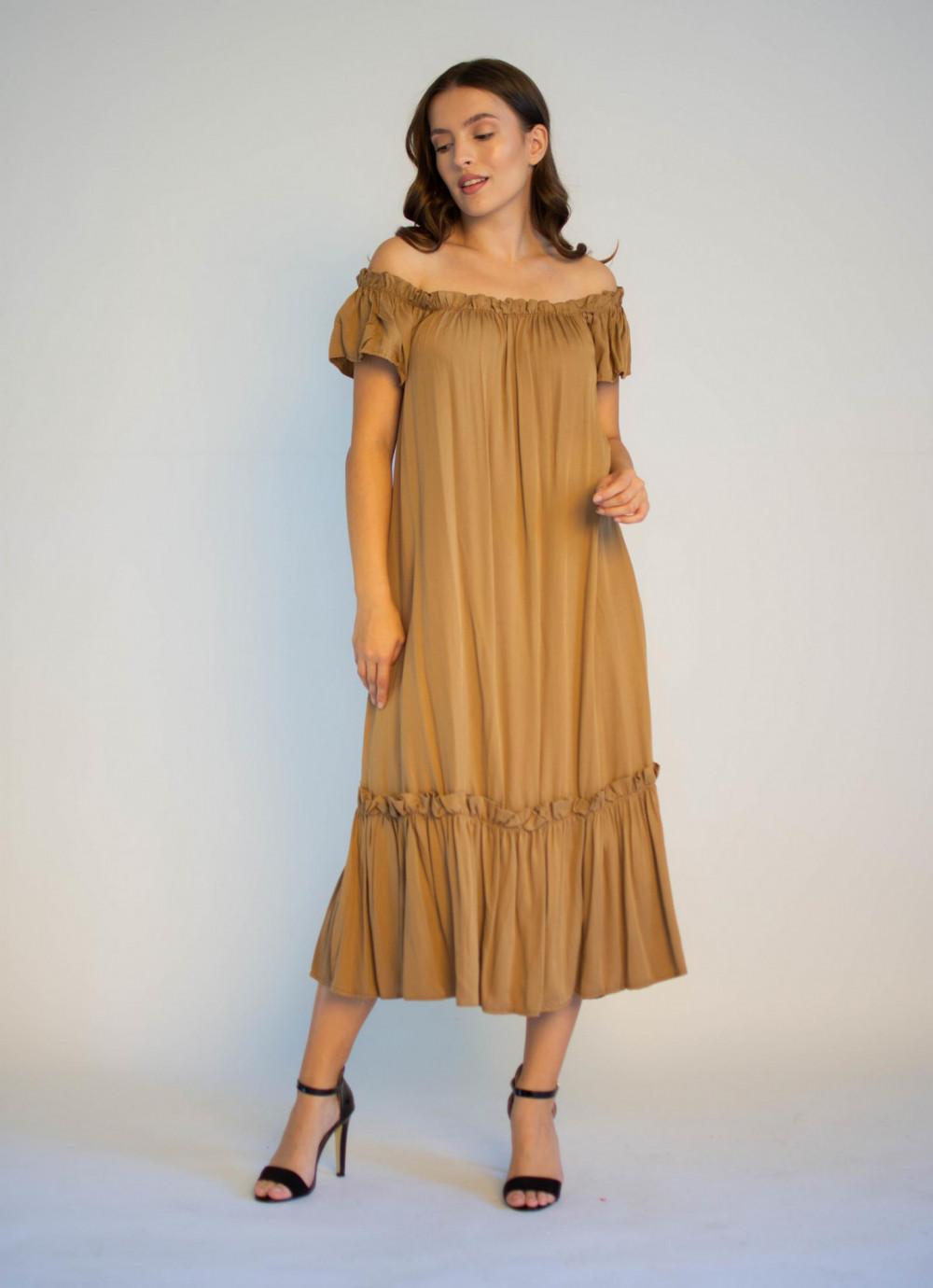 Sukienka hiszpanka z falbankami midi Catherine 4
