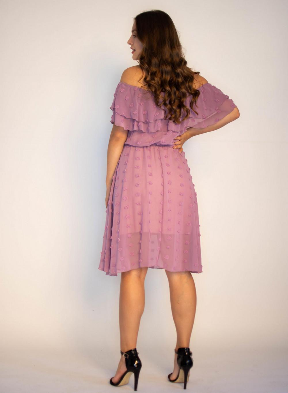 Sukienka hiszpanka z tiulem i kropkami Alexa 1