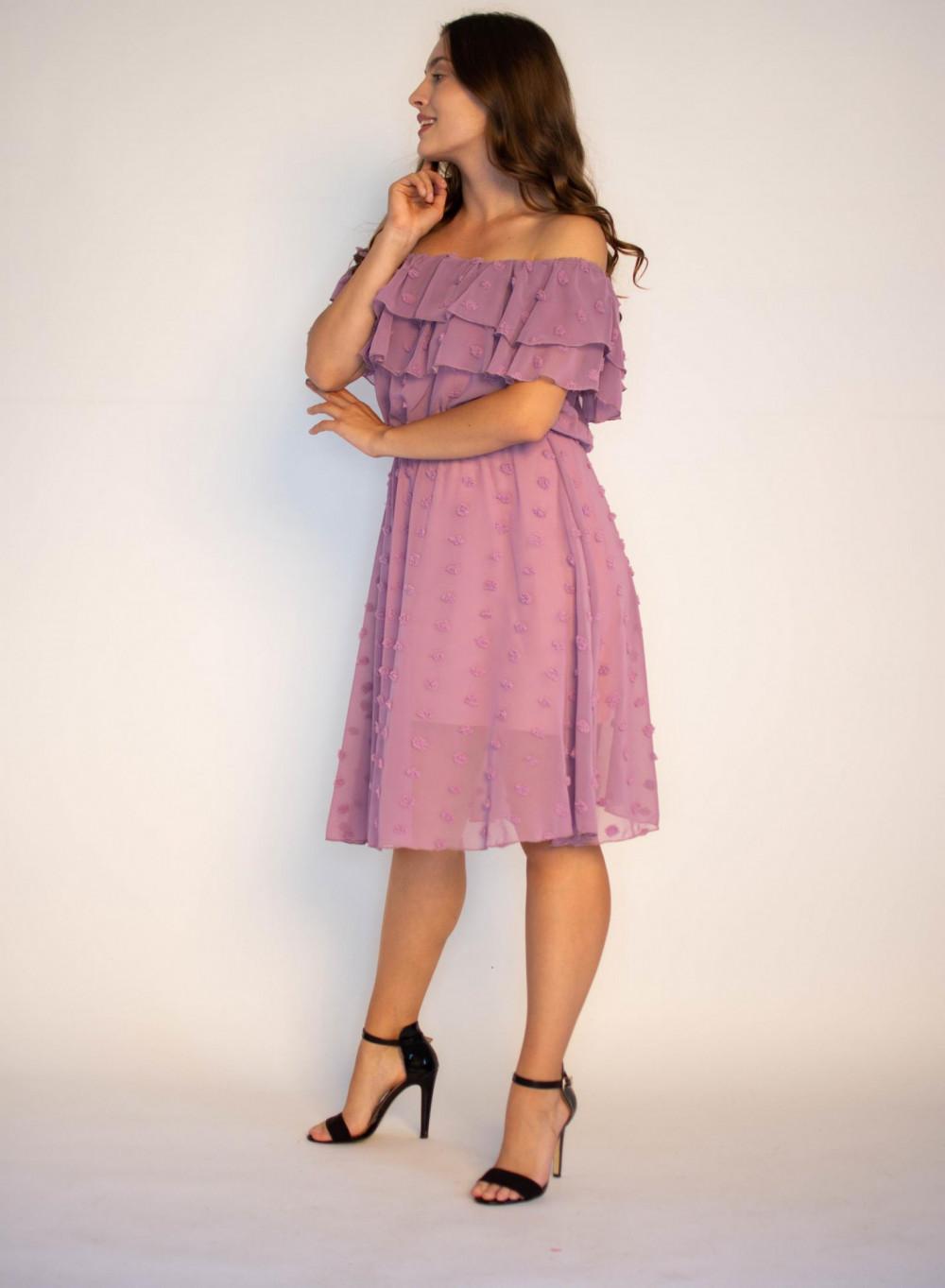 Sukienka hiszpanka z tiulem i kropkami Alexa 2