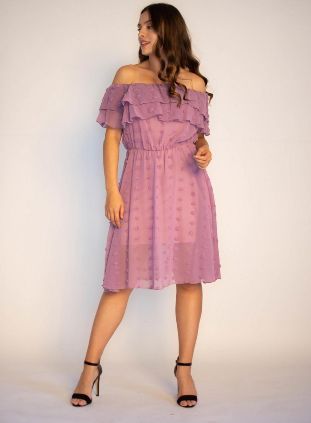 Sukienka hiszpanka z tiulem i kropkami Alexa 3