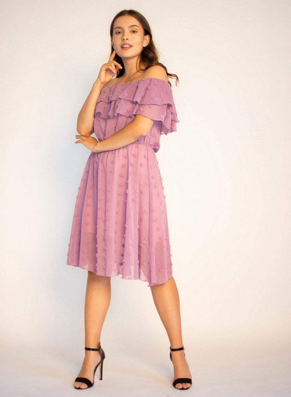 Sukienka hiszpanka z tiulem i kropkami Alexa 4