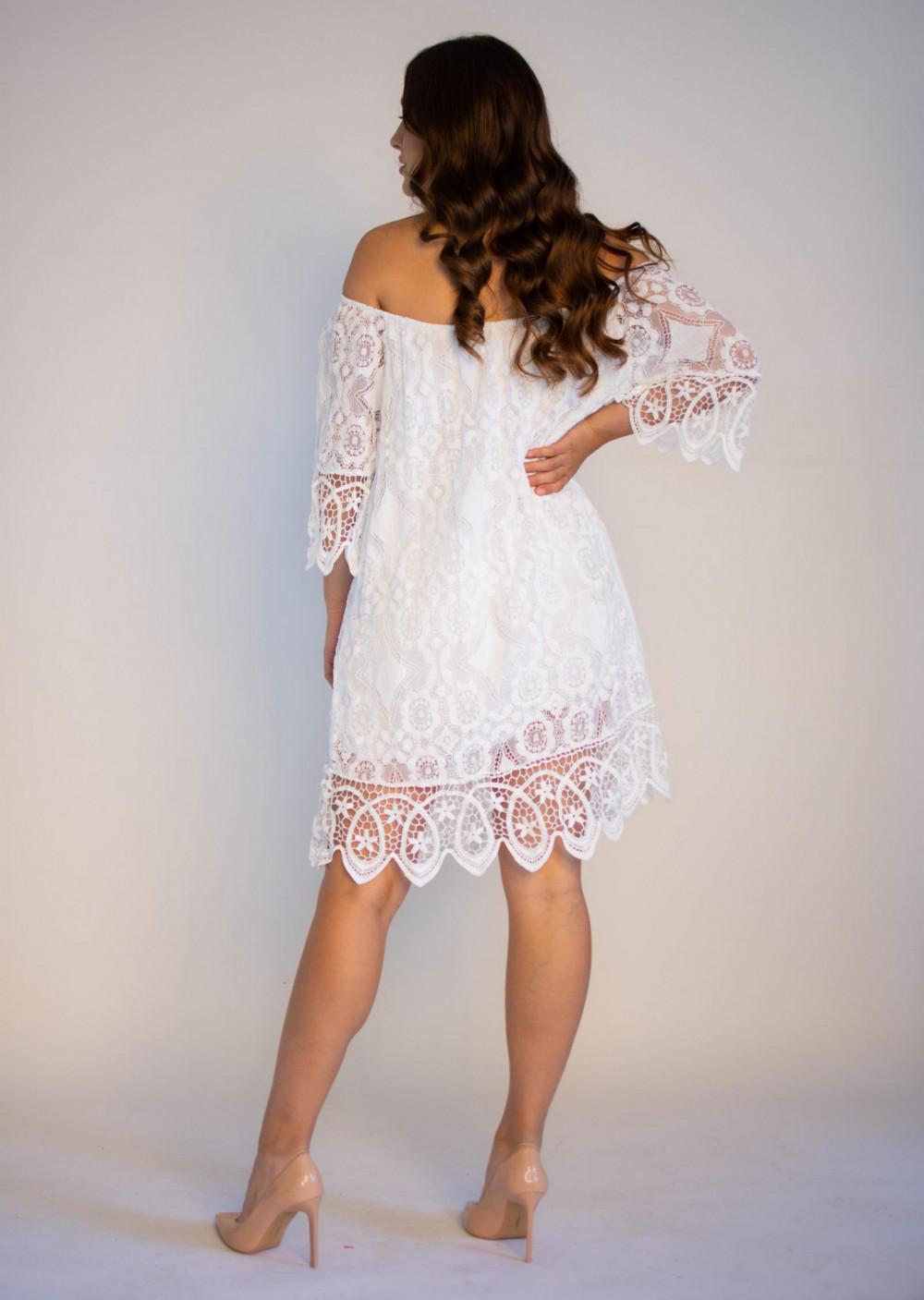 Sukienka koronkowa biała hiszpanka Alicia 1