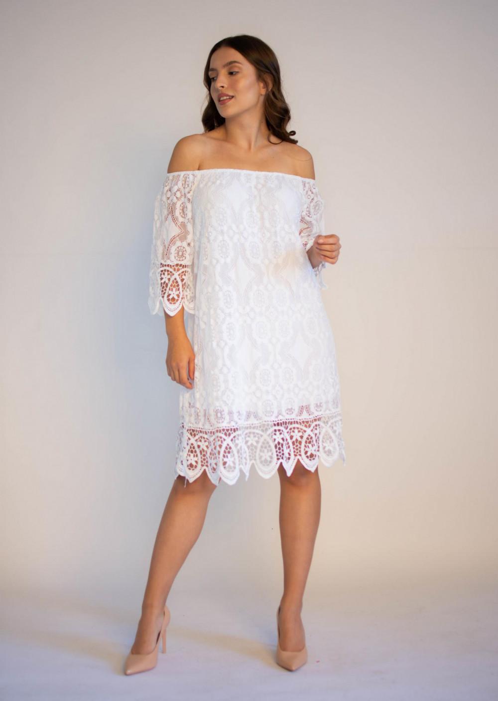 Sukienka koronkowa biała hiszpanka Alicia 2