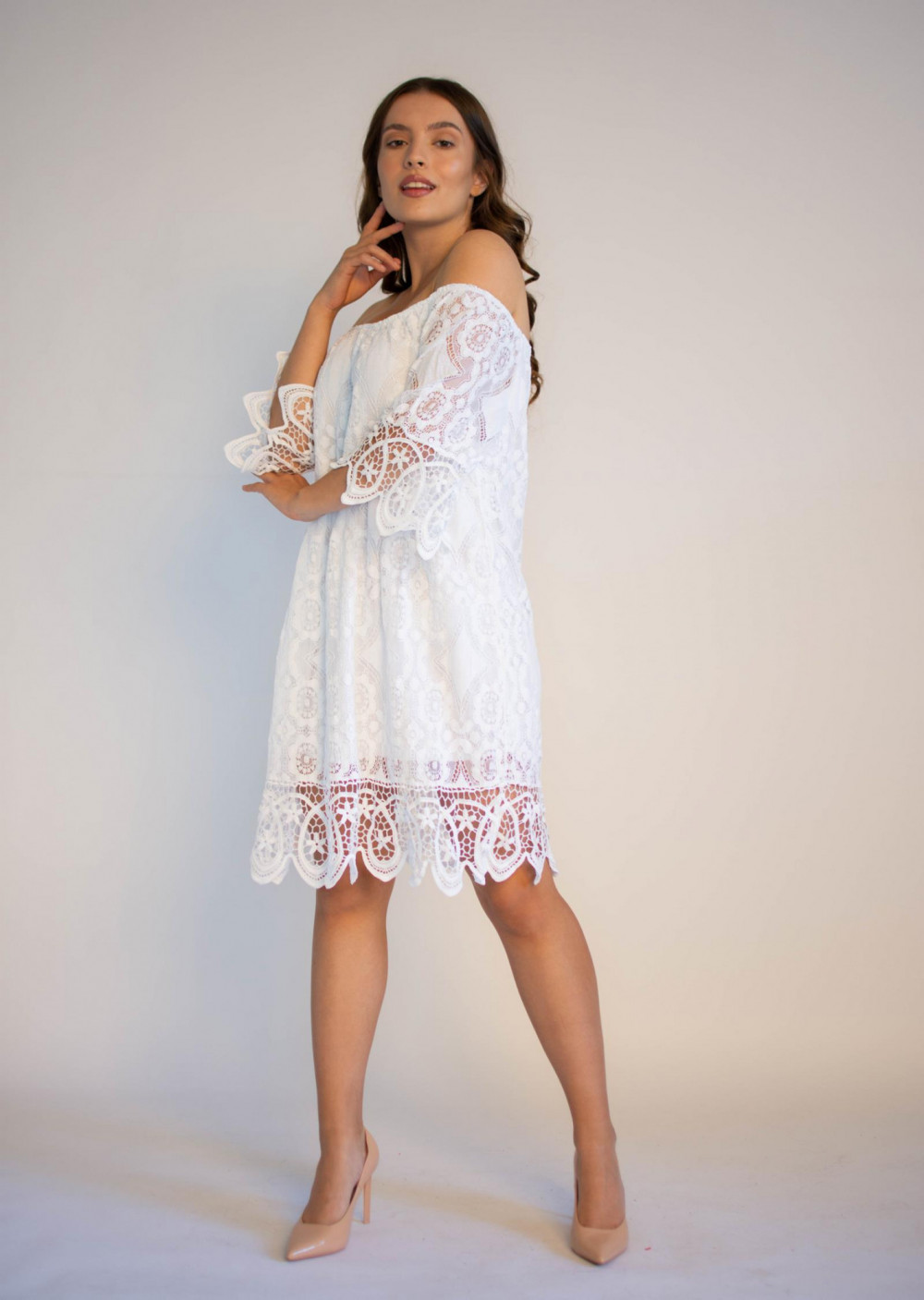 Sukienka koronkowa biała hiszpanka Alicia 3
