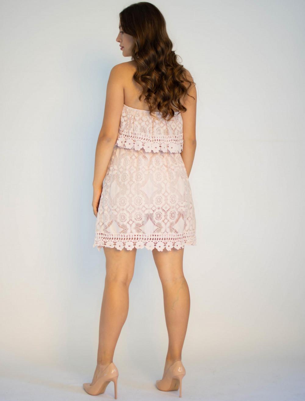 Sukienka koronkowa hiszpanka różowa Kathes 1
