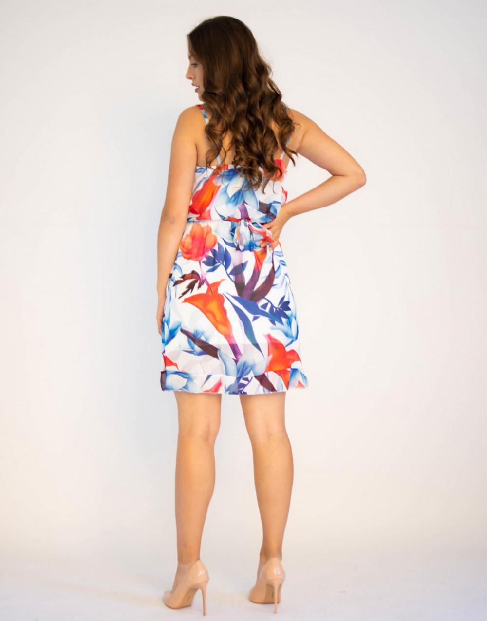Sukienka kwiatowa na ramiączkach Dagie 1