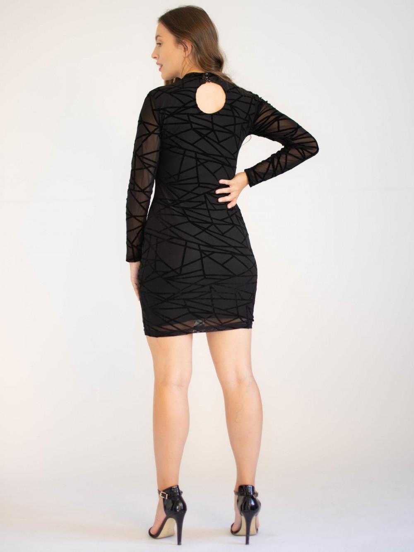 Sukienka mini w geometryczne wzory Emma 1