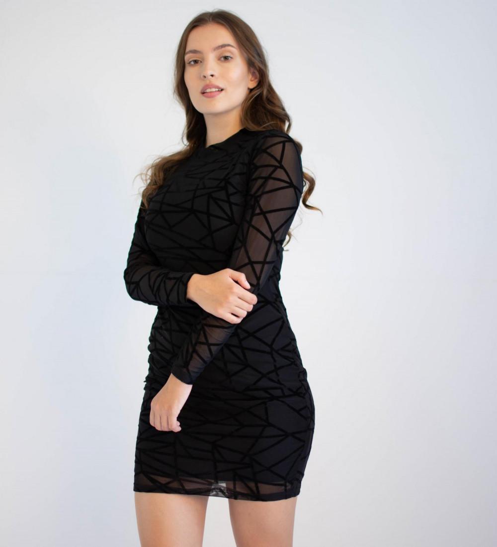 Sukienka mini w geometryczne wzory Emma 3