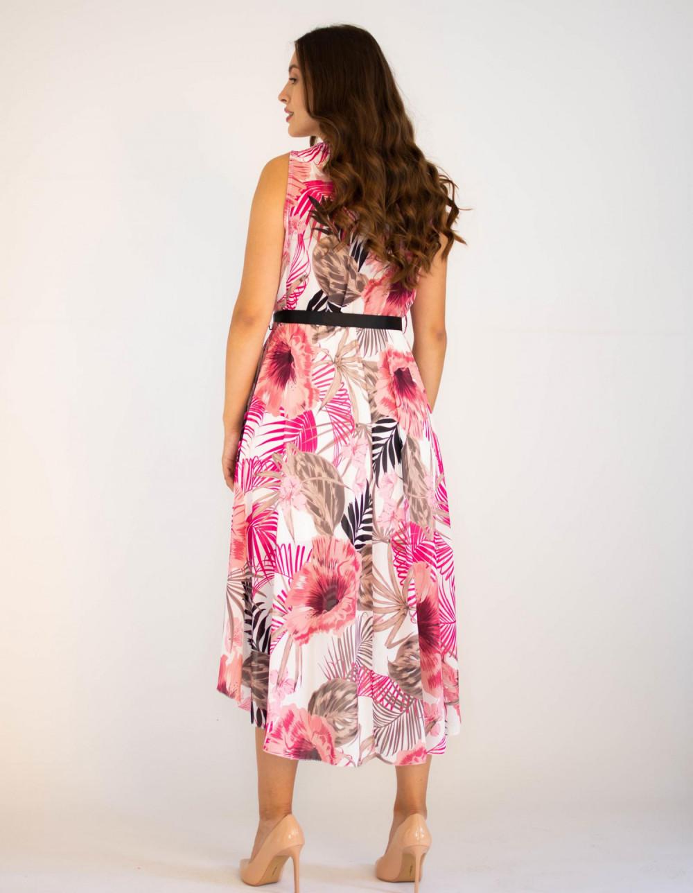 Sukienka przekładana kwiatowa Isoh 1