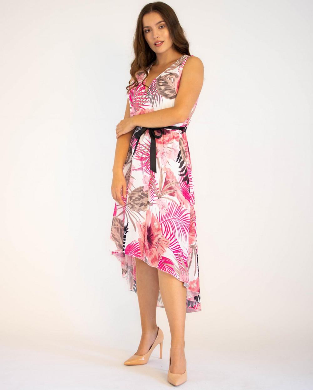 Sukienka przekładana kwiatowa Isoh 2