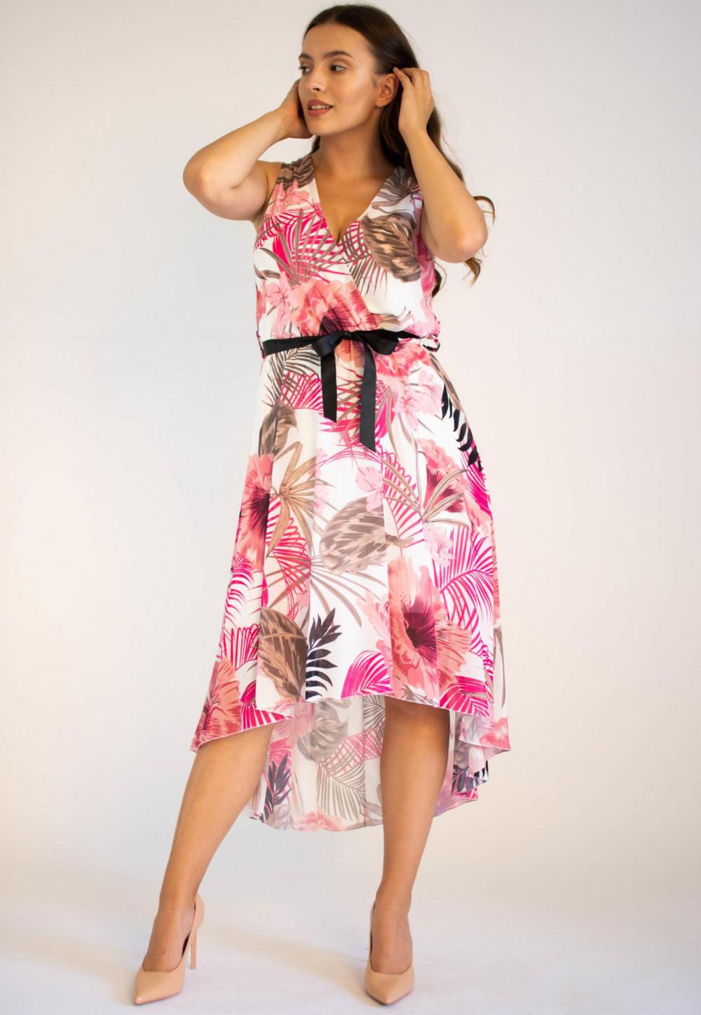 Sukienka przekładana kwiatowa Isoh 3