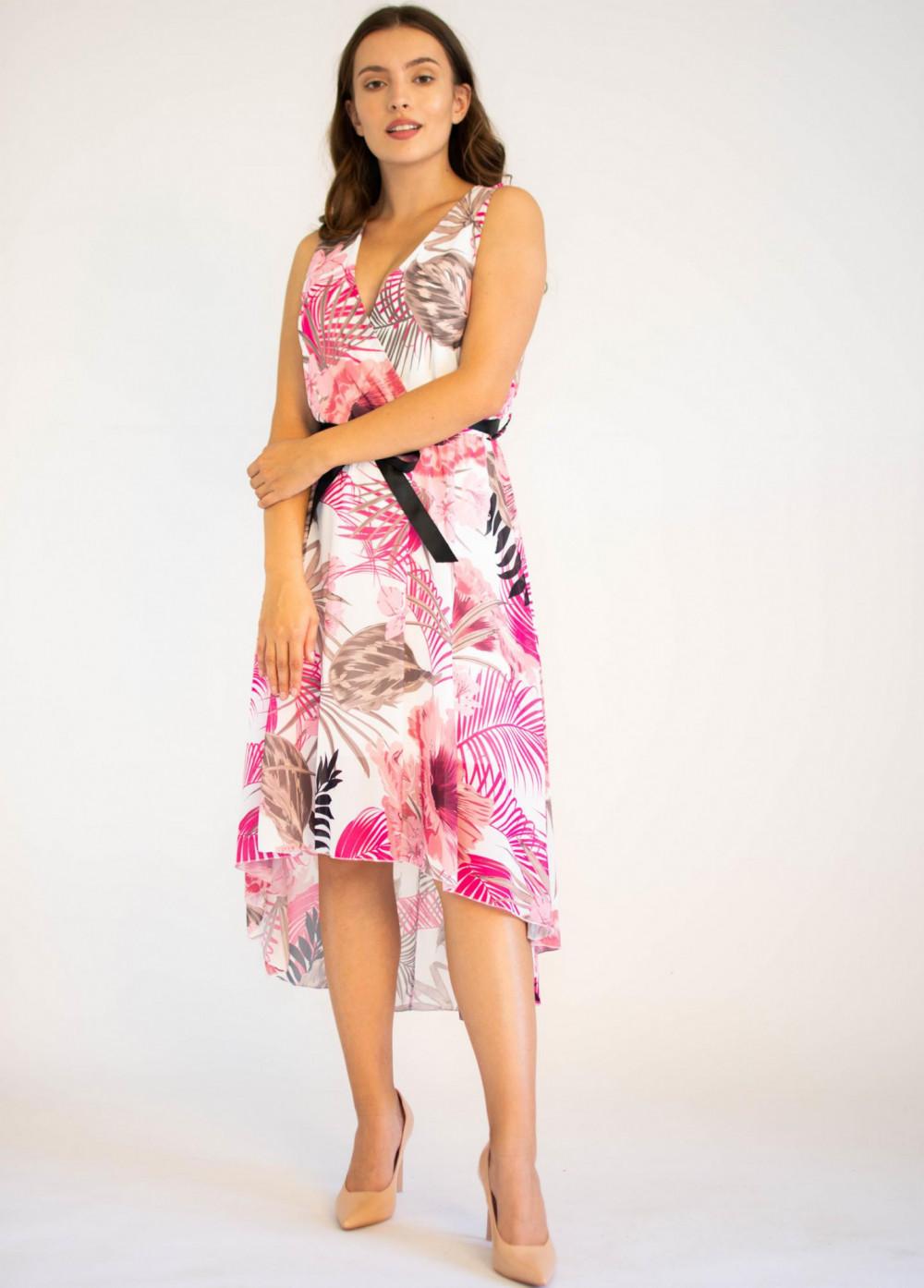Sukienka przekładana kwiatowa Isoh 4