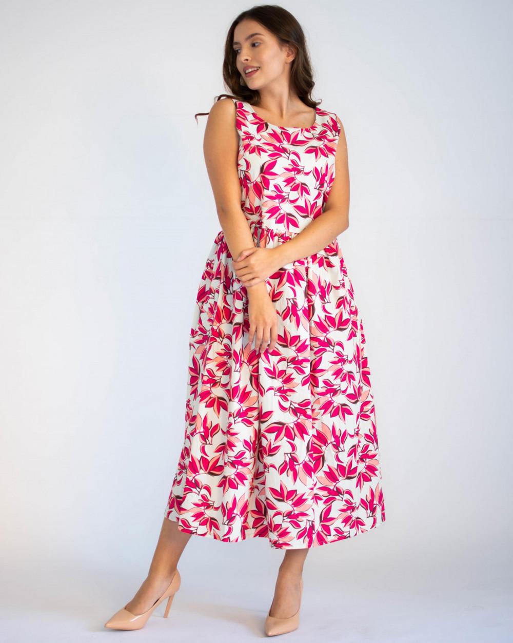 Sukienka przekładana midi kwiatowa Mias 1