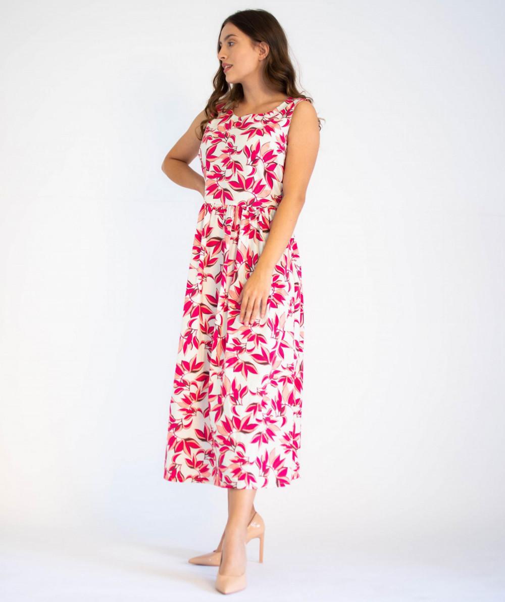 Sukienka przekładana midi kwiatowa Mias 3