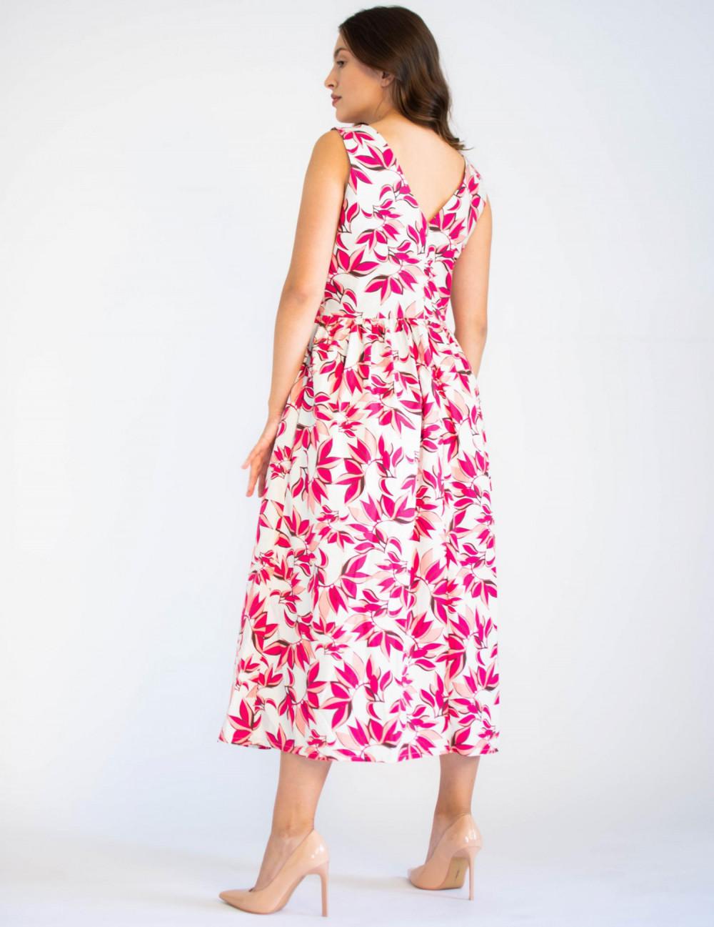 Sukienka przekładana midi kwiatowa Mias 4
