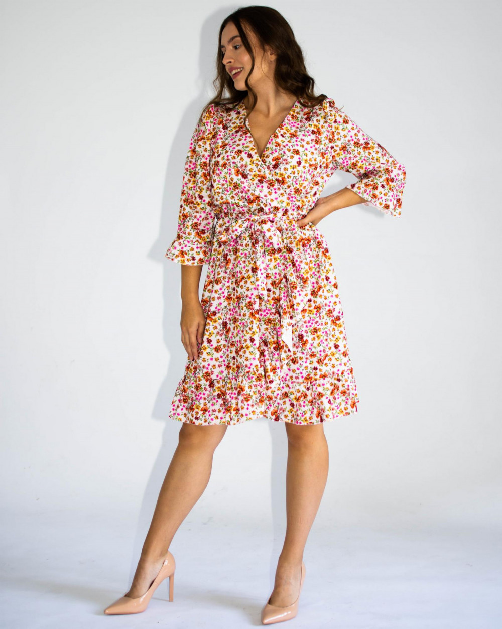 Sukienka przekładana w kwiaty Maya 1